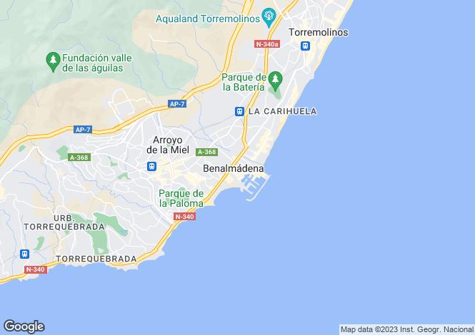 Map for Benalmádena, Málaga, Andalusia