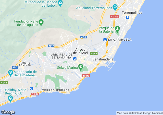 Map for Benalmadena, Costa Del Sol, Spain