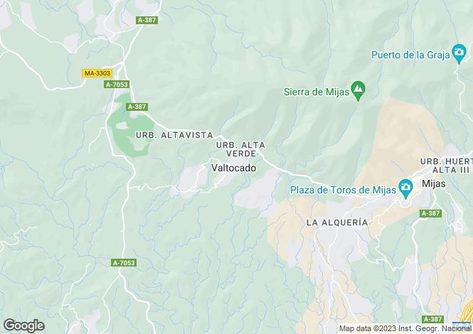 Map for Andalucia, Malaga