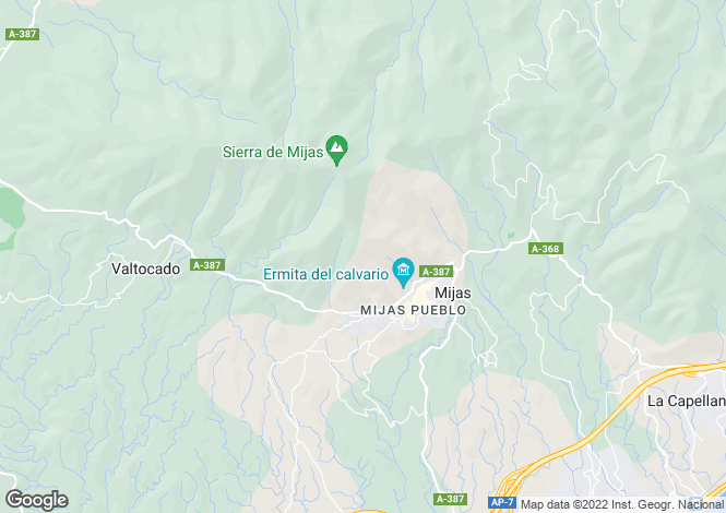 Map for Andalusia, Malaga, Mijas