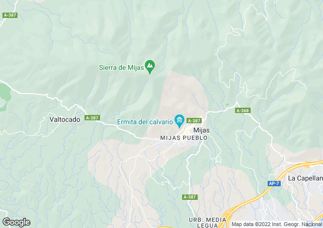 Map for Spain, Mijas, Malaga