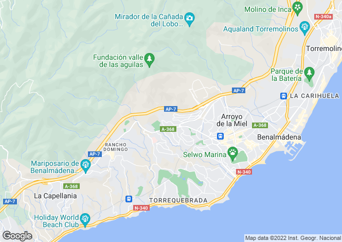 Map for Andalucia, Malaga, Arroyo de la Miel