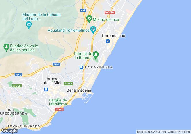 Map for La Carihuela, Costa Del Sol, Spain