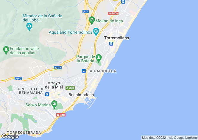 Map for La Carihuela, Málaga, Andalusia