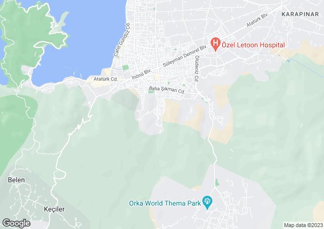 Map for Tasyaka, Fethiye, Mugla