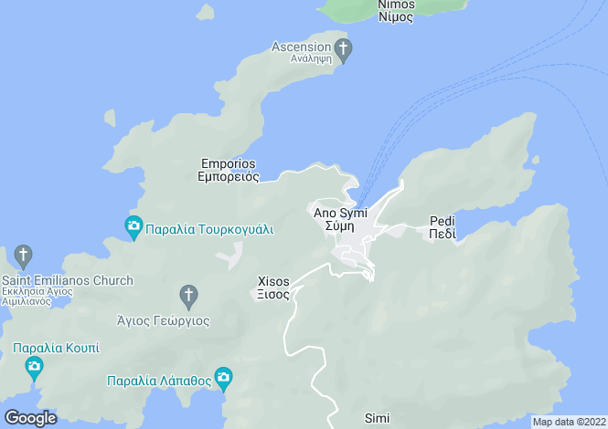 Map for Dodekanes Inseln, Symi,