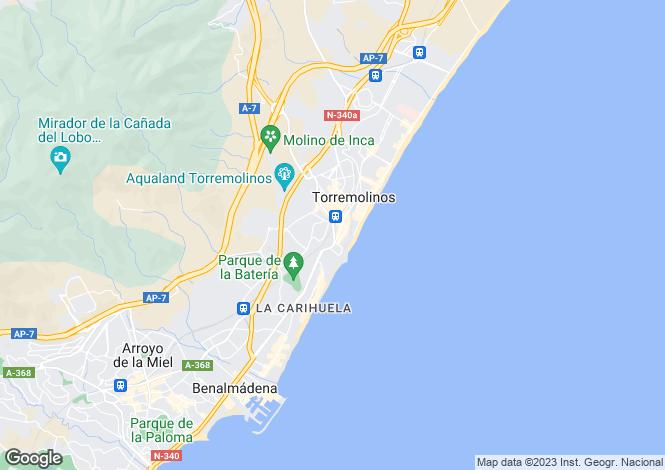 Map for Andalucia, Malaga, Torremolinos