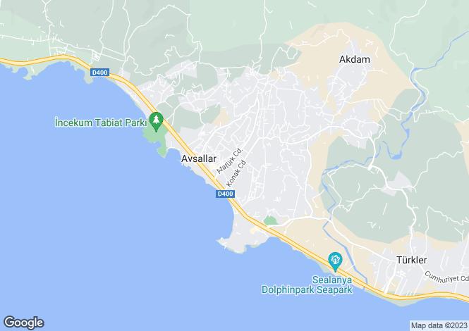 Map for Antalya, Alanya, Avsallar