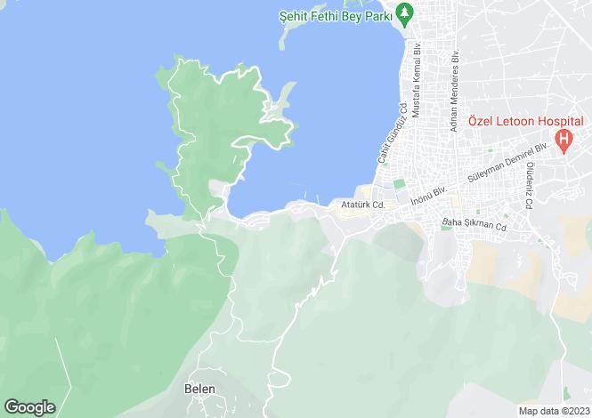 Map for Mugla, Fethiye, Karagozler