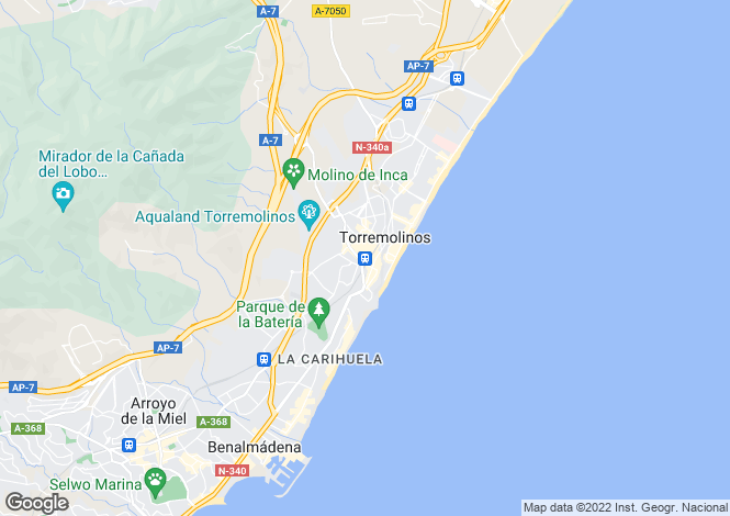 Map for Torremolinos, Malaga, Spain