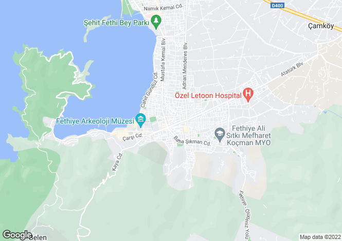 Map for Tuzla, Fethiye, Mugla