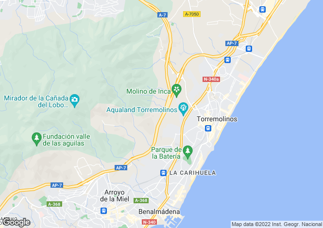 Map for Andalucia, Malaga, Torremolinos