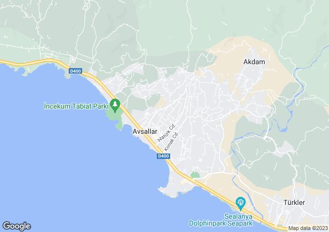 Map for Avsallar, Alanya, Antalya