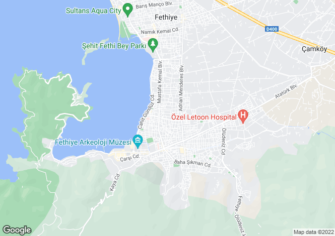 Map for Turkey - Mugla, Fethiye, Fethiye