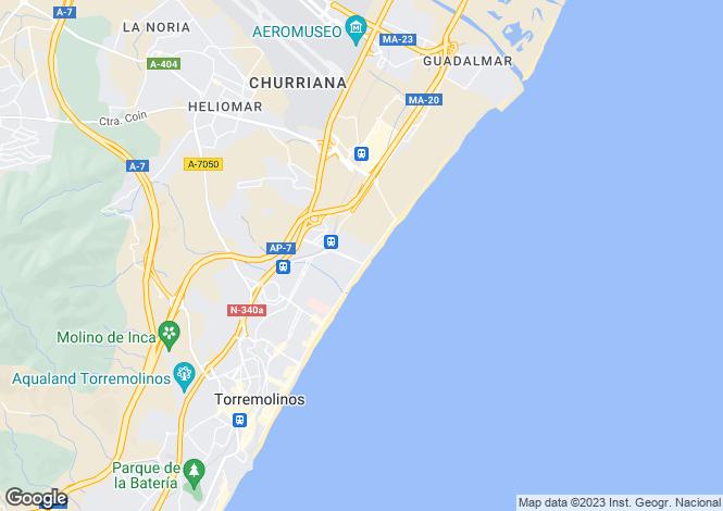 Map for Torremolinos, Malaga, Spain