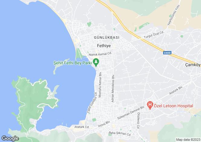 Map for Mugla, Fethiye, Akarca