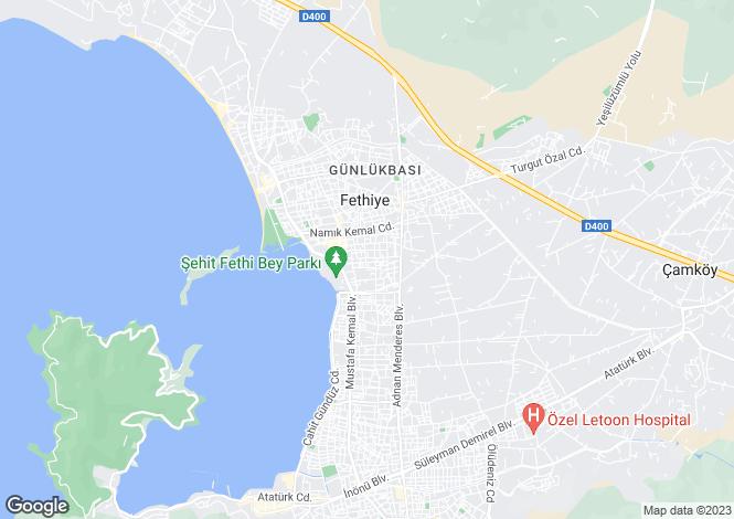Map for Akarca, Fethiye, Mugla