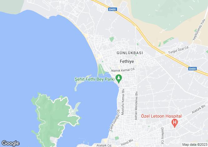 Map for Mugla, Fethiye, Çalis