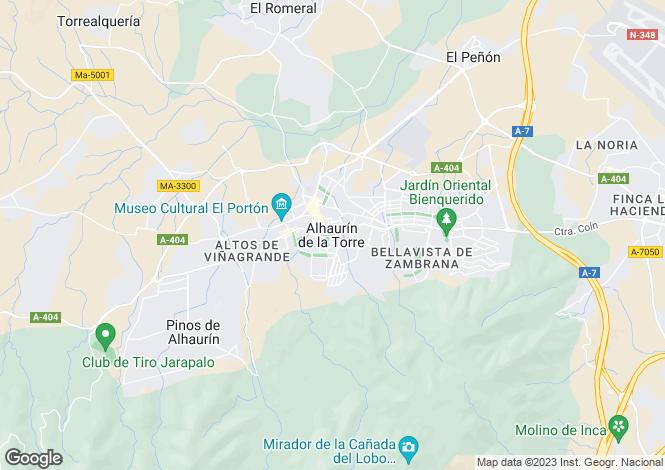 Map for Andalusia, Malaga, Alhaurín de la Torre