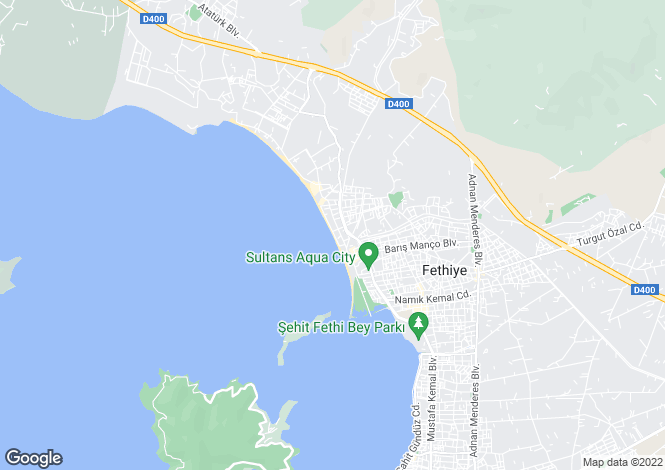 Map for Turkey - Mugla, Fethiye, Çalis