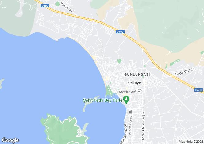 Map for Mugla, Fethiye, Fethiye