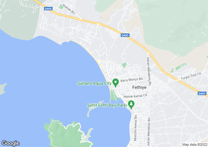 Map for Fethiye, Mugla,  Turkey