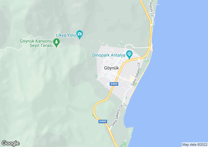 Map for Antalya, Kemer, Göynük