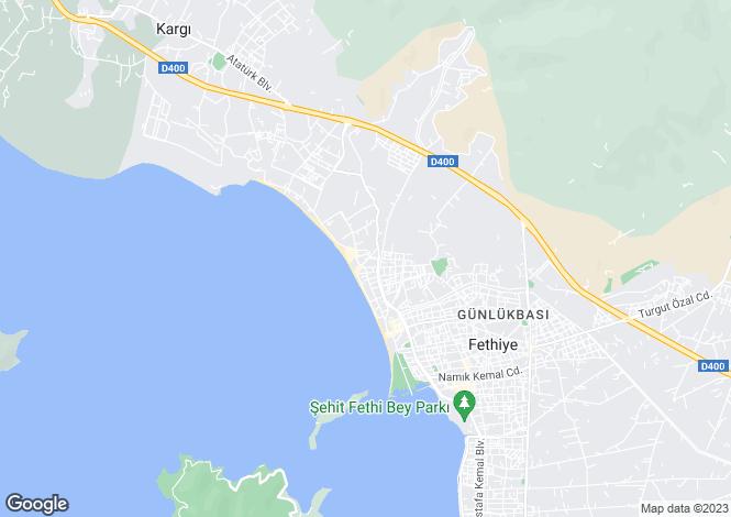 Map for Foca, Fethiye, Mugla
