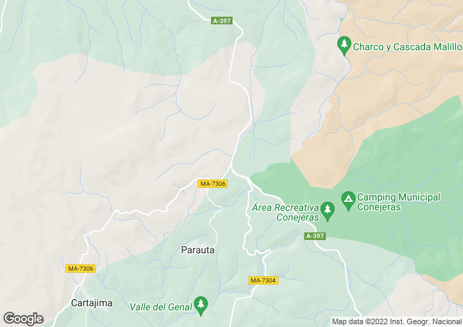 Map for La Heredia, Malaga, Spain