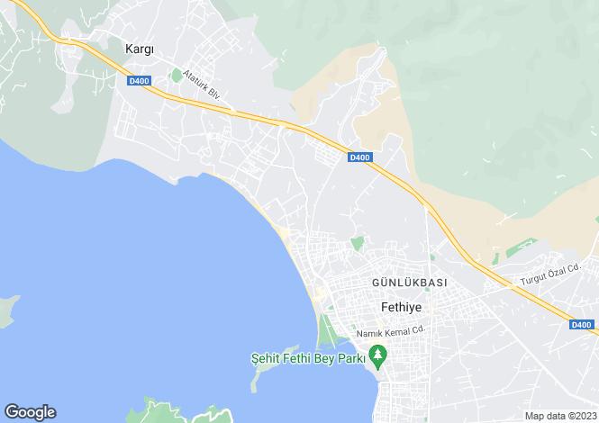 Map for Fethiye, Mugla,  Turkey