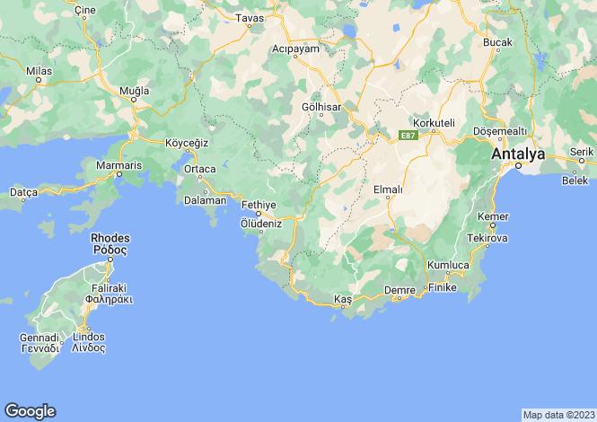 Map for Çalis, Fethiye, Mugla