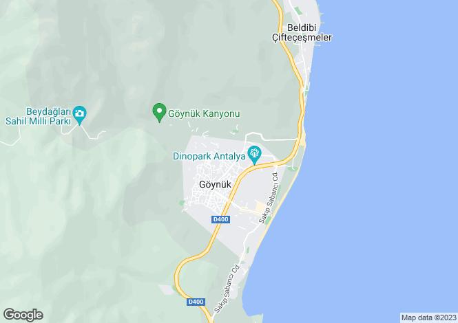 Map for Antalya, Kemer, Göynük