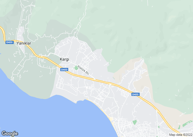 Map for Mugla, Fethiye, Ciftlik