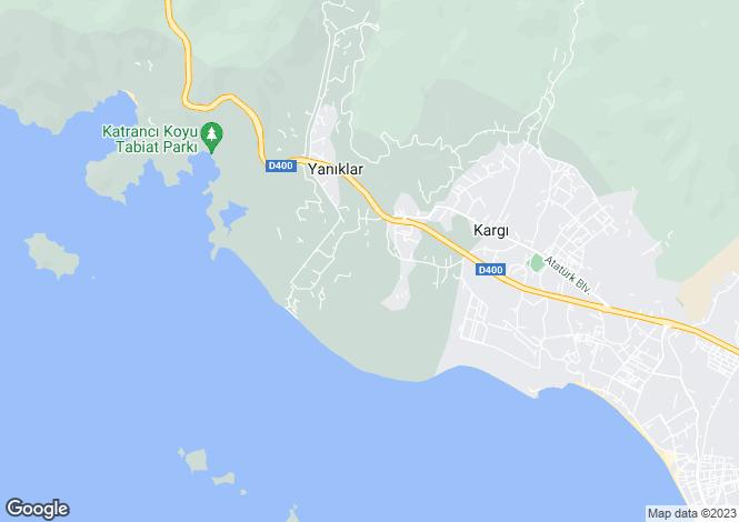 Map for Mugla, Fethiye, Yaniklar