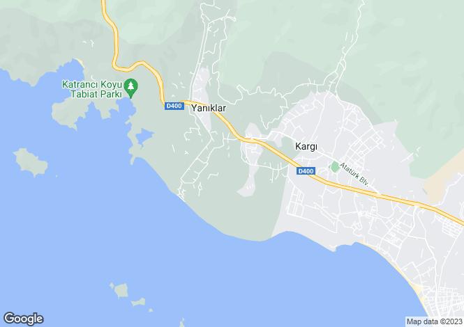 Map for Yaniklar, Fethiye, Mugla