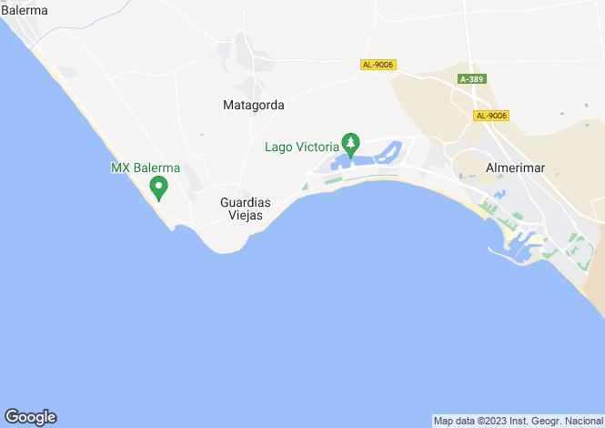 Map for Guardias Viejas, Almería, Andalusia