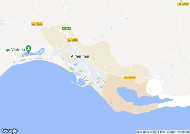 Map for Almerimar, Spain