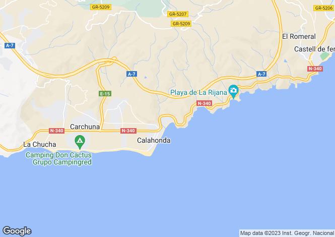 Map for Spain - Andalusia, Granada, Calahonda