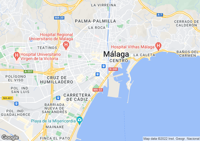 Map for Pacifico, Malaga, Spain