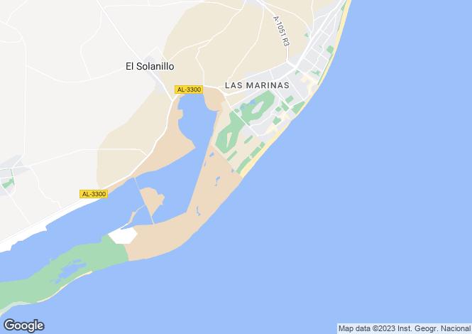 Map for Andalucia, Almería, Roquetas de Mar