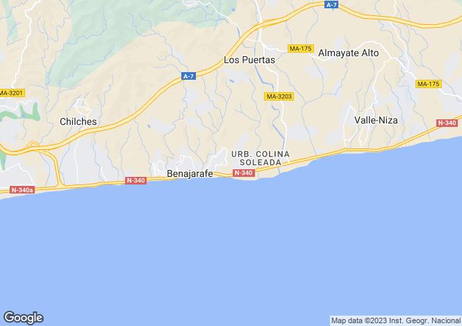 Map for Andalucia, Malaga, Vélez-Málaga