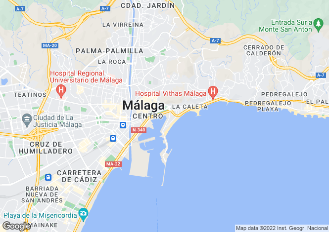 Map for Andalucia, Malaga, Málaga City