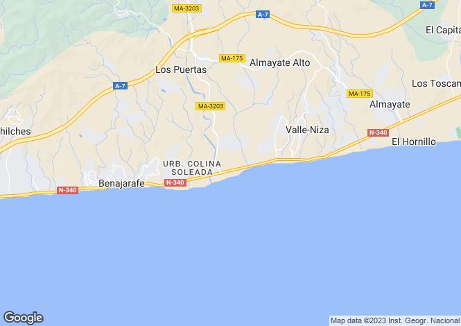 Map for Andalucia, Malaga, Benajarafe
