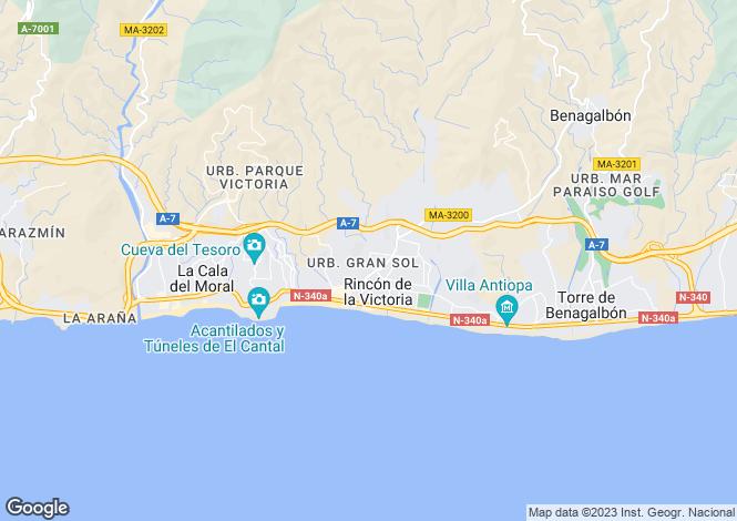 Map for Andalucia, Malaga, Rincón de la Victoria
