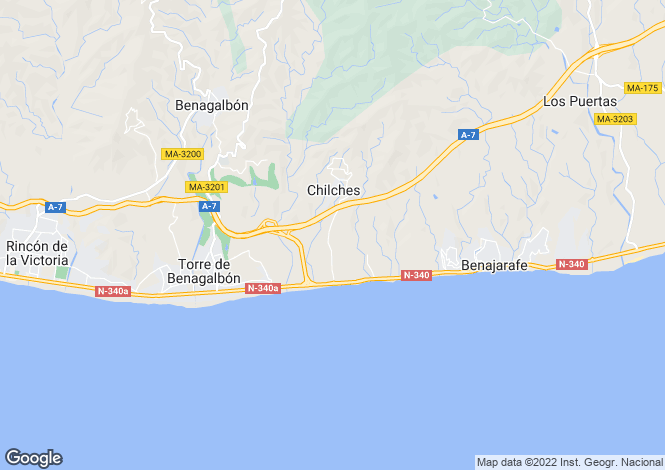 Map for Andalucia, Malaga, Chilches