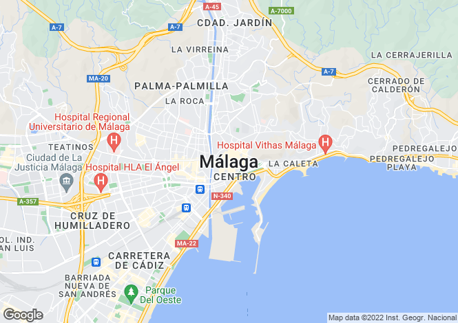 Map for Malaga