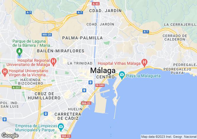 Map for Andalucia, Malaga, Málaga City