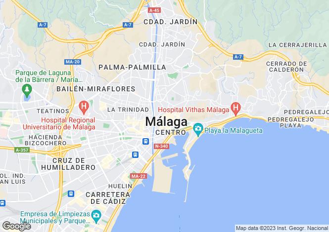 Map for Centro Historico, Malaga, Spain
