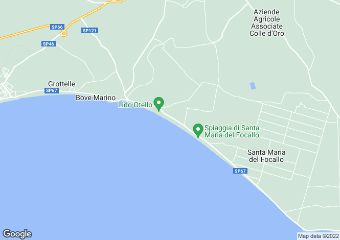 Map for Ispica, Ragusa, Sicily