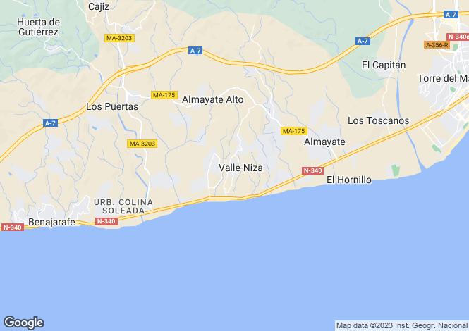 Map for Torre del Mar, Spain